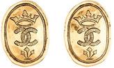 Chanel CC Coin Earrings