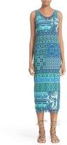 Fuzzi Women's Print Stretch Cotton Midi Dress