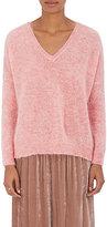 Masscob Women's Mohair-Blend V-Neck Sweater-Pink