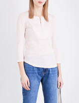 Claudie Pierlot Tahina linen and jersey top