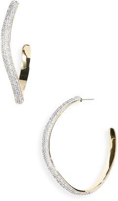 DEMARSON Calypso Pave Crystal Hoop Earrings