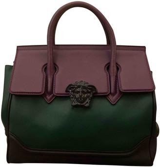 Versace Palazzo Empire Green Leather Handbags
