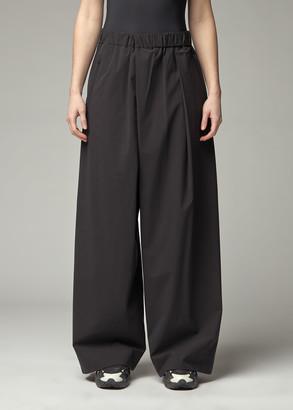 Y-3 Women's High Stretch Nylon Wide Pants in Black Size Medium