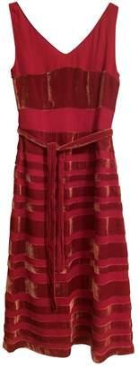 Cacharel Red Silk Dress for Women