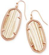 Kendra Scott Elle Drop Earrings in Gold Dusted Glass