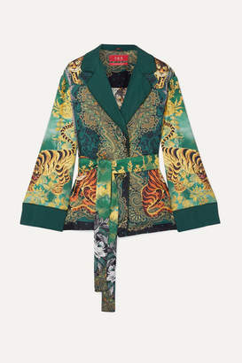 F.R.S For Restless Sleepers Giocasta Printed Silk-twill Jacket - Green