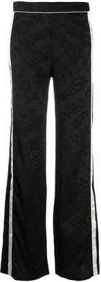 Neil Barrett Side Stripe Jacquard Detail Trousers