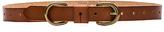 Linea Pelle Skinny D-Ring Belt in Cognac