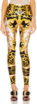 Versace Brocade Legging in White & Yellow | FWRD