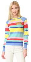 Mira Mikati Multi Striped Never Say Goodbye Sweater