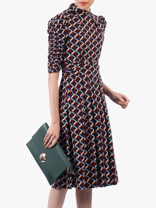 Jolie Moi Turtleneck Half Sleeved Dress, Multi