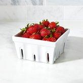 Crate & Barrel Berry Box White Colander