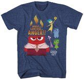 Mad Engine boys Inside Out Anger Control Kids Navy Heather T-Shirt