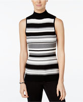 Hooked Up by IOT Juniors' Ribbed Mock-Neck Sweater