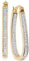 Townsend Victoria Rose-Cut Diamond U-Hoop Earrings (1/4 ct. t.w.) in 18k Gold over Sterling Silver or Sterling Silver