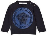 Young Versace Navy and Blue Medusa Sweatshirt