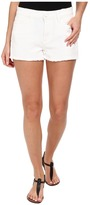 Paige Callie Short in Distressed Optic White