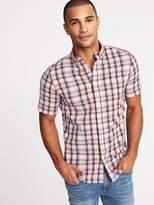 Old Navy Slim-Fit Built-In Flex Plaid Classic Shirt for Men