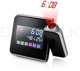 ADOBY Projection Digital Weather LCD Snooze Alarm Clock Color Display w/ LED Backlight Gift