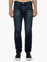 Edwin Dark Used Ed-55 Made In Japan Tapered Jeans