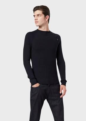 Emporio Armani Pure Virgin Wool Ribbed Sweater