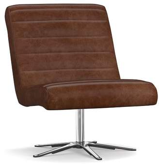 Sensational Leather Swivel Chair Shopstyle Pabps2019 Chair Design Images Pabps2019Com