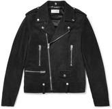 Saint Laurent Suede Biker Jacket - Black