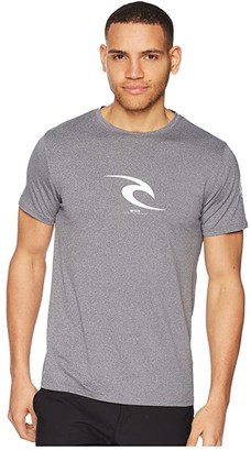 Rip Curl Icon Short Sleeve UV Tee (Dark Grey Heather) Men's Swimwear