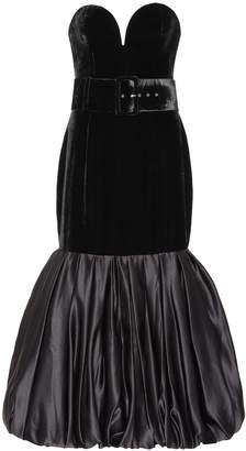 Rasario Velvet corset midi dress