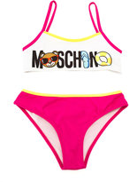 Moschino Kids - logo print bikini - kids - Polyamide/Polyester/Spandex/Elastane - 4 yrs