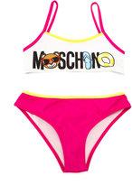 Moschino Kids - logo print bikini - kids - Polyamide/Polyester/Spandex/Elastane - 6 yrs