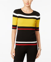 INC International Concepts Petite Striped Sweater, Only at Macy's