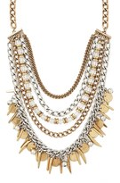 Forever 21 FOREVER 21+ Beaded Chain Statement Necklace