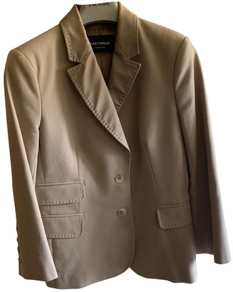Flavio Castellani Camel Cotton Jacket for Women