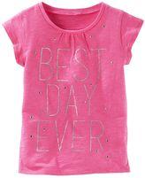 "Osh Kosh Girls 4-8 Best Day Ever"" Glitter Graphic Tee"