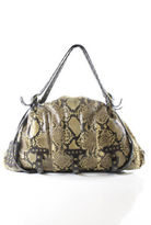 Be & D Snakeskin Brown Studded Hobo Shoulder Handbag $5,000 JILL ZARIN