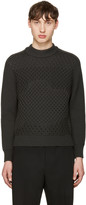 Jil Sander Grey Waffle Knit Sweater