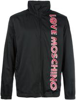 Love Moschino logo print jacket - men - Cotton/Polyamide/Polyester - 48