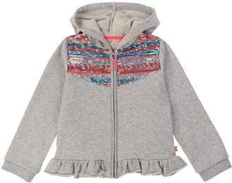 Billieblush Girls Sequin Zip Through Hoodie - Grey