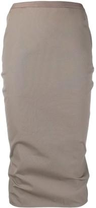 Rick Owens Soft Pillar midi skirt
