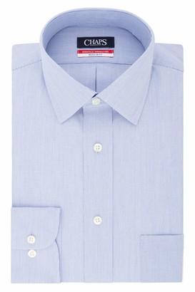 Chaps Men's Dress Shirts Regular Fit Stripe Spread Collar
