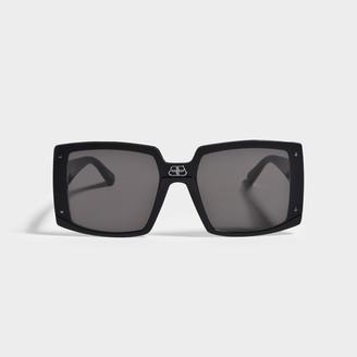 Balenciaga Sunglasses In Black Injection Bb0081S