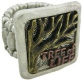 Things2Die4 Tri-Tone Pewter TREE OF LIFE Stretch Ring