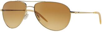 Oliver Peoples Men's Benedict Aviator Sunglasses
