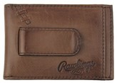 Rawlings Sports Accessories Men's Legacy Leather Card Case With Money Clip - Brown