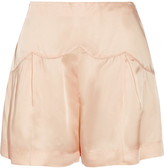 Miu Miu Pleated satin shorts