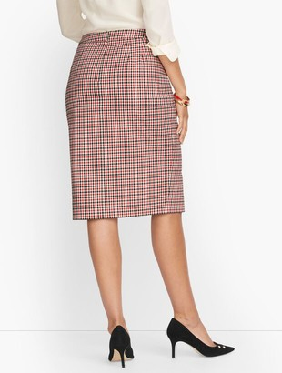 Talbots Gingham Twill Pencil Skirt