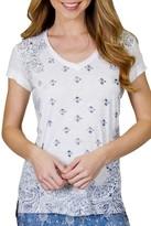 PJ Salvage Western Print V-Neck T-Shirt