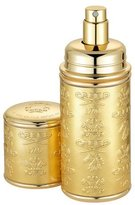Creed Logo Etched Leather Atomizer, Gold/Gold