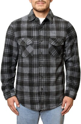 Freedom Foundry Fleece Plaid Regular Fit Shirt Jacket